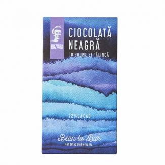 Ciocolata neagra 70 % prune palinca 80g