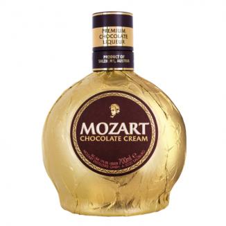MOZART CHOCOLATE CREAM GOLD 17% 0.5L + PAHAR