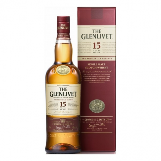WHISKEY GLENLIVET 15Y 0.7L CUTIE 40%