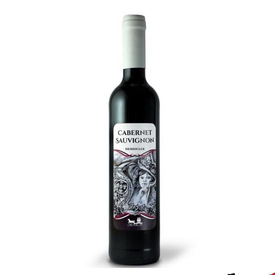 Cabernet Sauvignon demidulce 2015, 500ml